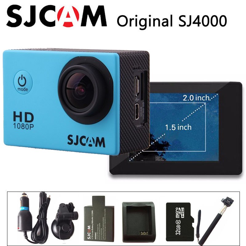 Original SJCAM SJ4000 font b Action b font Camera Sports DV 2 0 inch Diving 30M