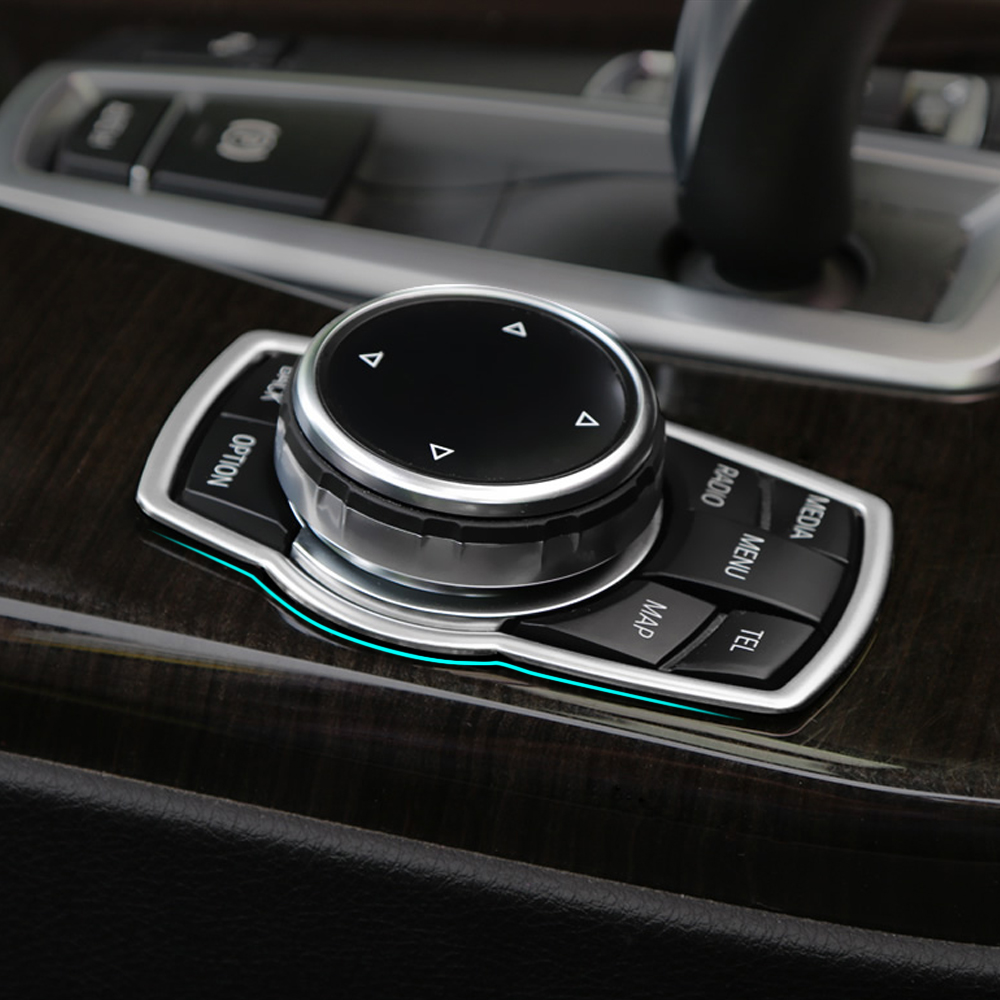 Interior refit multimedia buttons cover car accessories for bmw x1 x3 x5 x6 f20 f01 f30