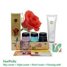цены Free Shipping Yan Wo Su whitening cream for face 3 in 1 skin care