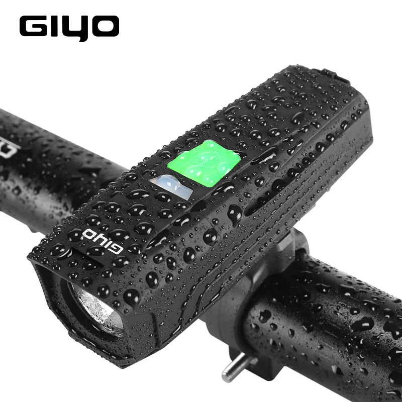 GIYO T6 LED Bike Flashlight USB Rechargeable Headlight For Bicycle 450Lm Strong Cycling Lamp Bike Light Front Handlebar Lantern gaciron 1000lumen bicycle bike headlight usb rechargeable cycling flashlight front led torch light 4500mah power bank for phone