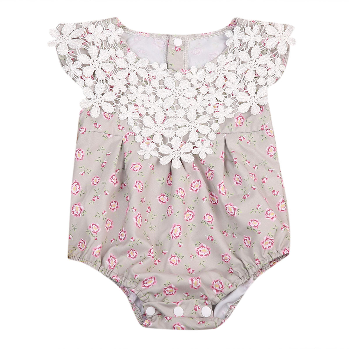 2017 Summer Newborn Baby Girl Clothes Floral Lace Romper Sleeveless Cute Bebes Princess OnePieces Sunsuit Outfit Jumpsuit