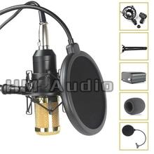 Hohe Qualität Professionelle Kondensator Tonaufnahme Mikrofon mit Shock Mount für Radio Braodcasting Singen mit 48 V