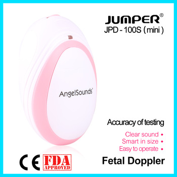 jumper  Pocket Fetal Doppler Baby Heartbeat Monitor Household Health CE FDA Approved 3M Probe Headset JPD-100S(mini)