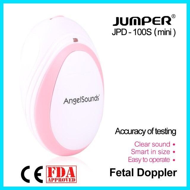 jumper  Pocket Fetal Doppler Baby Heartbeat Monitor Household Health CE FDA Approved 3M Probe Headset JPD-100S(mini)