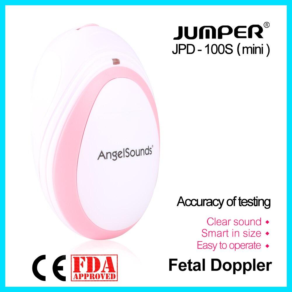 Jumper Pocket Fetal Doppler Baby Heartbeat Monitor salud del hogar CE FDA aprobado 3 M sonda auriculares JPD-100S (mini)