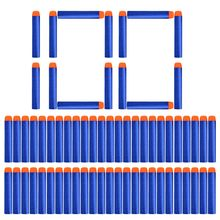 100pcs Refill Darts Bullets For Nerf N-strike Elite Series Blasters Children Toy Gun Blue Soft Bullet Foam Guns Accessories !(China)