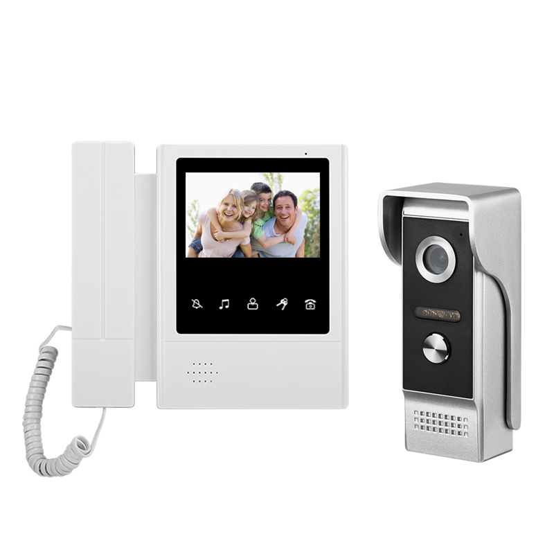 Doorbell Phone-System Wired Visual-Intercom Outdoor-Camera Video-Door 1-Monitor Home-Surveillance title=