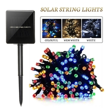 22M Led Solar Powered 200LED Fairy String Lighting outdoor lamp Christmas Wedding Party Garden Decor Holiday 8 Modes lights dcoo solar led string light 100 light 8 modes fairy lighting garden party christmas holiday outdoor lighting wedding decoration