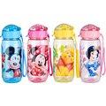 VENTA CALIENTE Disne Minnie/Mickey Mouse Kids Niños Escolares Copa Sipper Paja Biberón Botella de Consumición Plegable Regalo de Los Niños