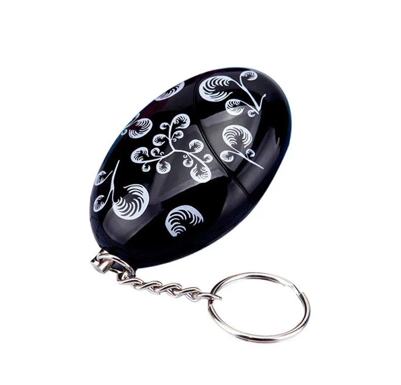 10PCS Egg Shape Self Defense keychain Alarm Security Protect Alert Personal Safety Scream Loud personal Alarm egg shaped keychain self defense alarm female anti attack anti rape security protect alert safety scream loud alarm tool 120db