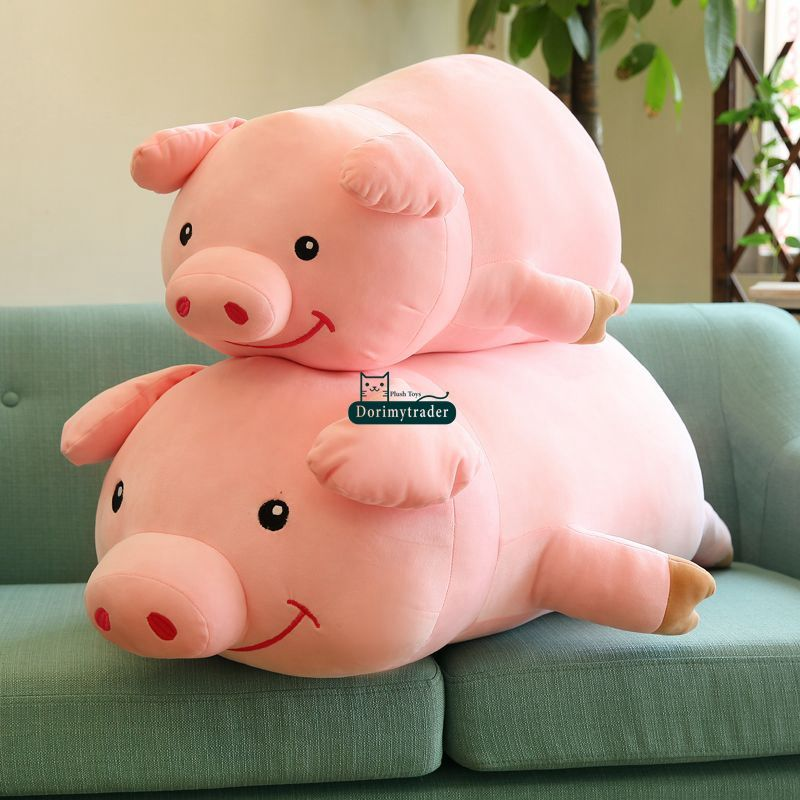 Dorimytrader 90cm Large Soft Lovely Cartoon Lying Pig Plush Pillow