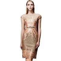 Вышивка блестками 2018 Для женщин Элегантные Короткие платье Вечерние выпускных вечеров для gratuating Дата церемонии Гала коктейли платья до 12