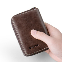 Genuine Leather Coin Purse Male credit id credit card holder coin purse wallet Vintage Credit Cards Organizer Small Wallet