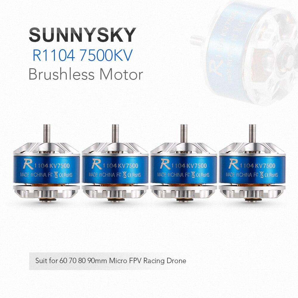 4 stücke SUNNYSKY R1104 7500KV 2 3 S Brushless Motor für 60 70 80 90mm Micro FPV Racing Drone Quadcopter RC Teile und zubehör-in Teile & Zubehör aus Spielzeug und Hobbys bei  Gruppe 1