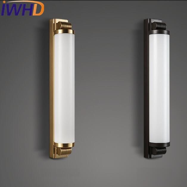 IWHD Moderne LED Wall Light Applique De Mode Chambre À Côté De Mur Lampe Simple Fer De Chevet Escalier Lumières Appareils D'éclairage D'accueil