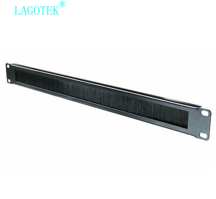 2pcs/lot 1U 19Inch  RACK MOUNT Blanking Plate Patch PANEL Rack Mounting Blank Network Brush Panel Cable Manager