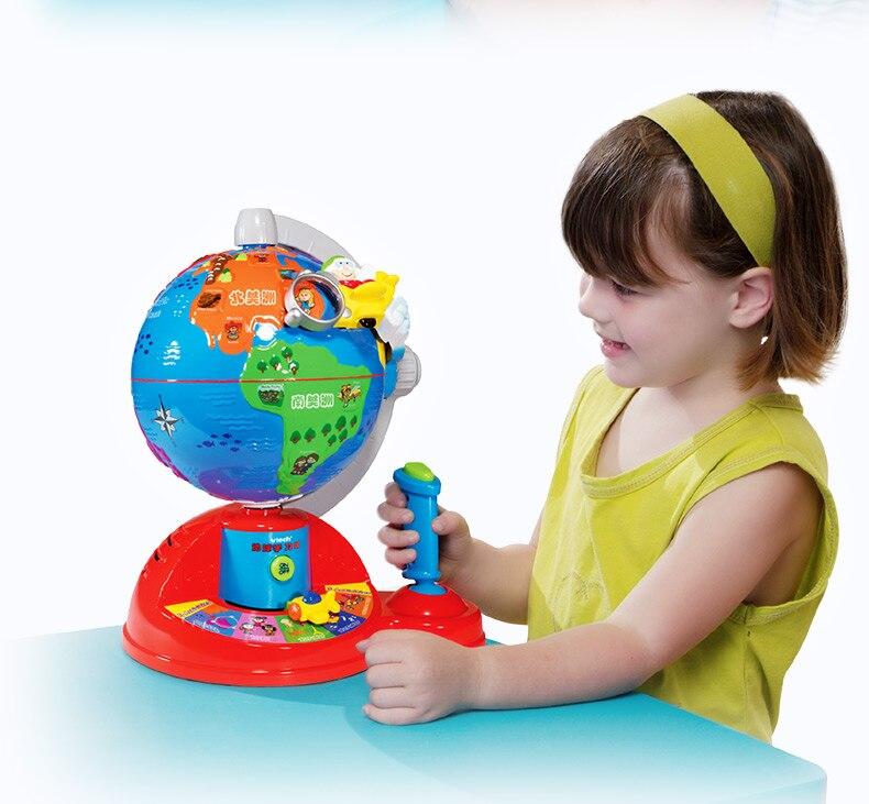 Nouveau bébé musique langue apprentissage jouet Puzzle petite enfance jouets éducatifs AR monde Globe géographie pour enfant cadeau de noël