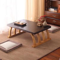 Solid Wood Japanese Lazy Tatami Coffee Table For Living Room Snack Laptop Corner Side Table in Home/Office Mini Desk Balcony