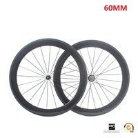 60mm R13 Clincher Carbon Bicycle Road Bike Wheels Cycling Wheelset 18 21 Or 20 24 Holes