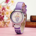 Newest KEZZI Top brand Fashion hot sale high quality cute cartoon girls quartz watch waterproof small leather watch k-1605