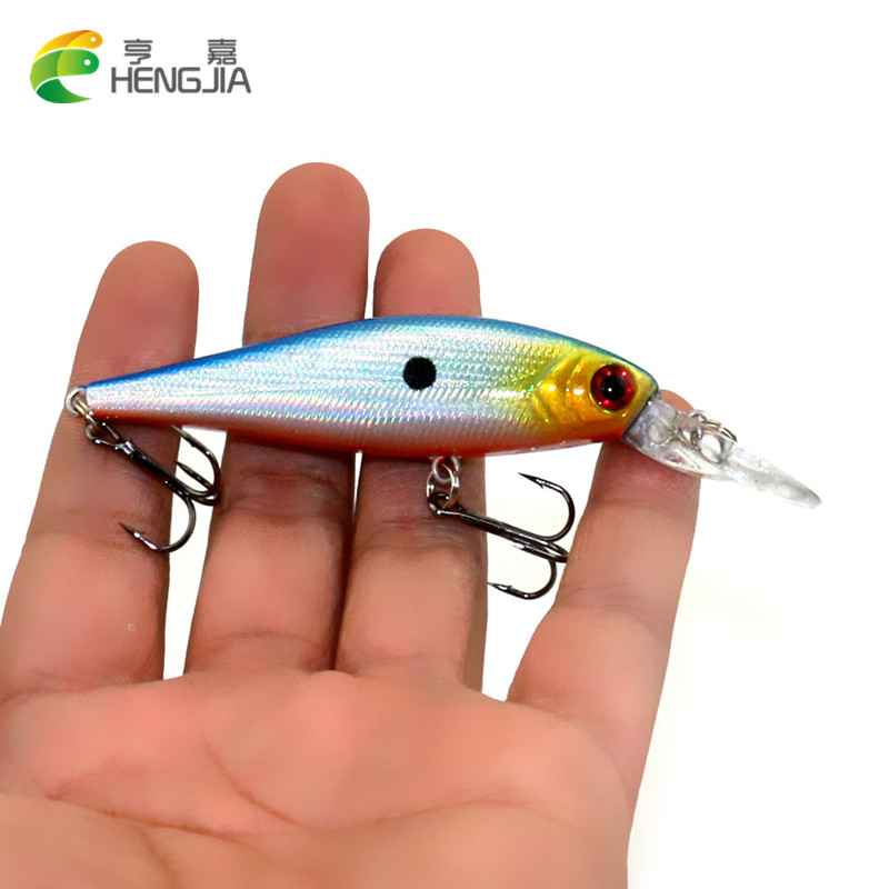 HENGJIA 10.5cm 9.5g Isca Artificial Floating Minnow Lure Long Shot Fishing Lures Hard Bait Tackle 3D Fish Eyes
