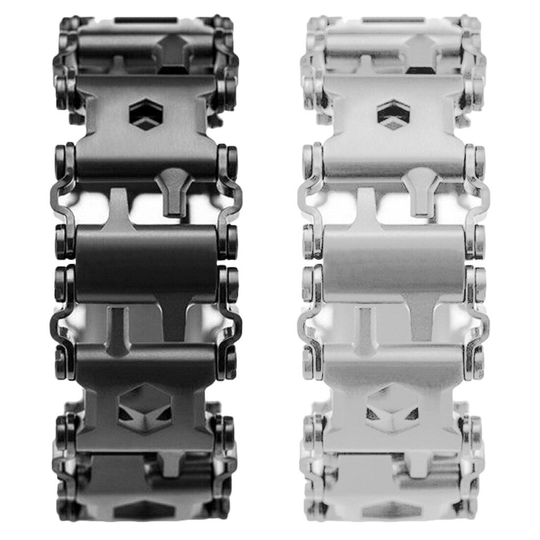 29 In 1 Multi-function Wearable Tread Bracelet Strap Multi-function Screwdriver Outdoor Emergency Kit Multi Tool