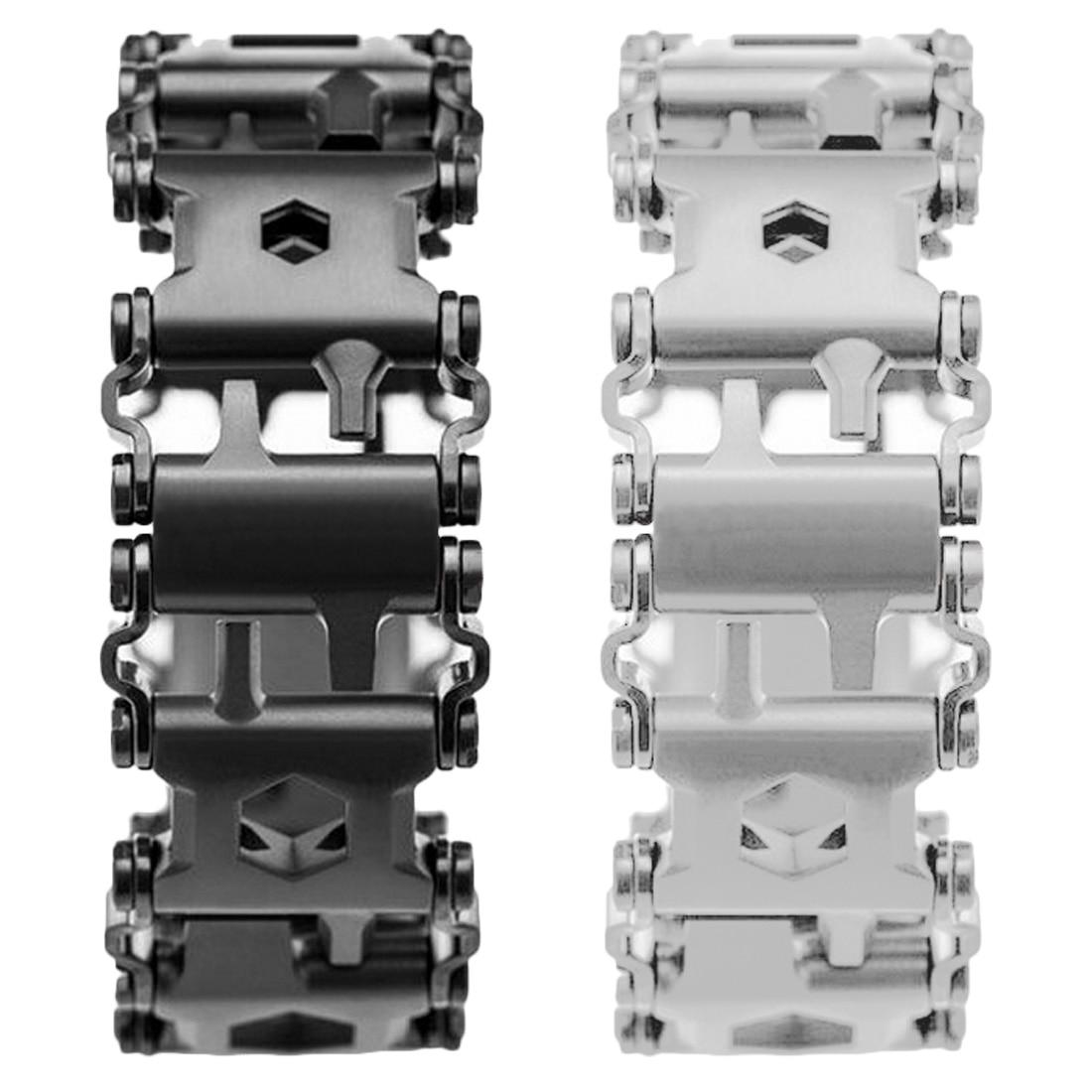 29 In 1 Multi function Wearable Tread Bracelet Strap Multi function Screwdriver Outdoor Emergency Kit Multi Tool