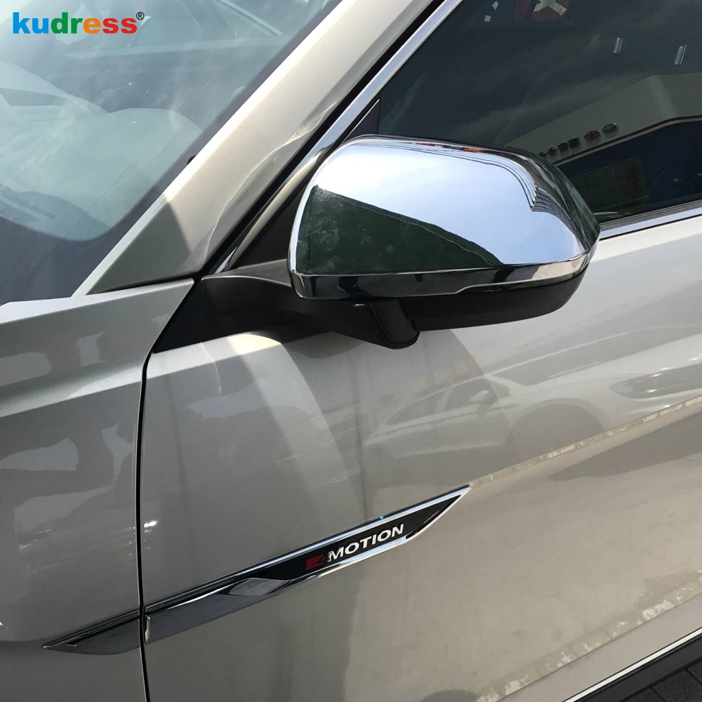 Car Accessories For Volkswagen VW Teramont Atlas 2017 2018 ABS Chrome Car Styling Rearview Side Door