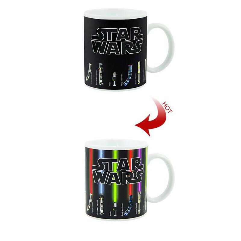 Star Wars Lightsaber Heat Reveal Mug color change coffee cup sensitive morphing mugs