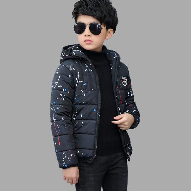 2016 Baby Winter Jacket Coat For 3 To 14 Year Teenage Boys Korean Brand Hooded Kids Down Jacket Winter Manteau Fille Down Parkas