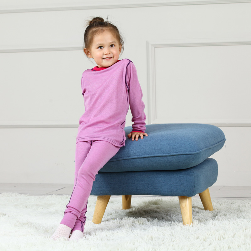 Merino wool thermal kids underwear set pajamas kids Soft Non itchy unisex boys girls  цена