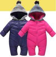2017 High Quality Baby Rompers Winter Babys Boys Outerwear Girls Warm Clothes Kids Jumpsuit Baby Duck