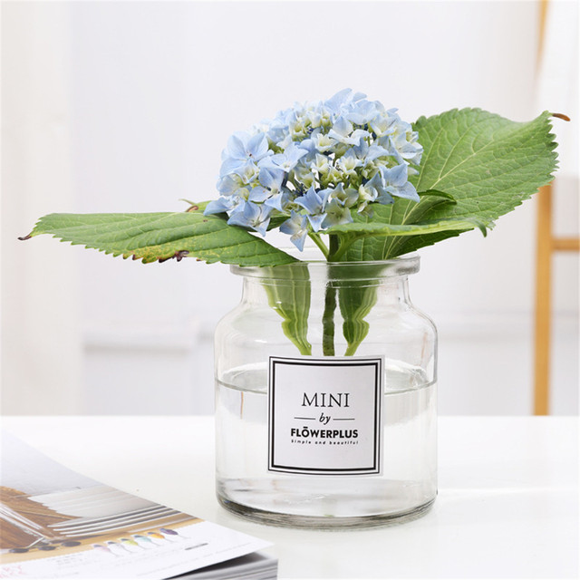 Scandinavian Grey Glass Vase Elegance Dry Flower Bottle Chic Ins Nordic Fresh Floral Storage Jar Minimalist Desktop Decor Vase