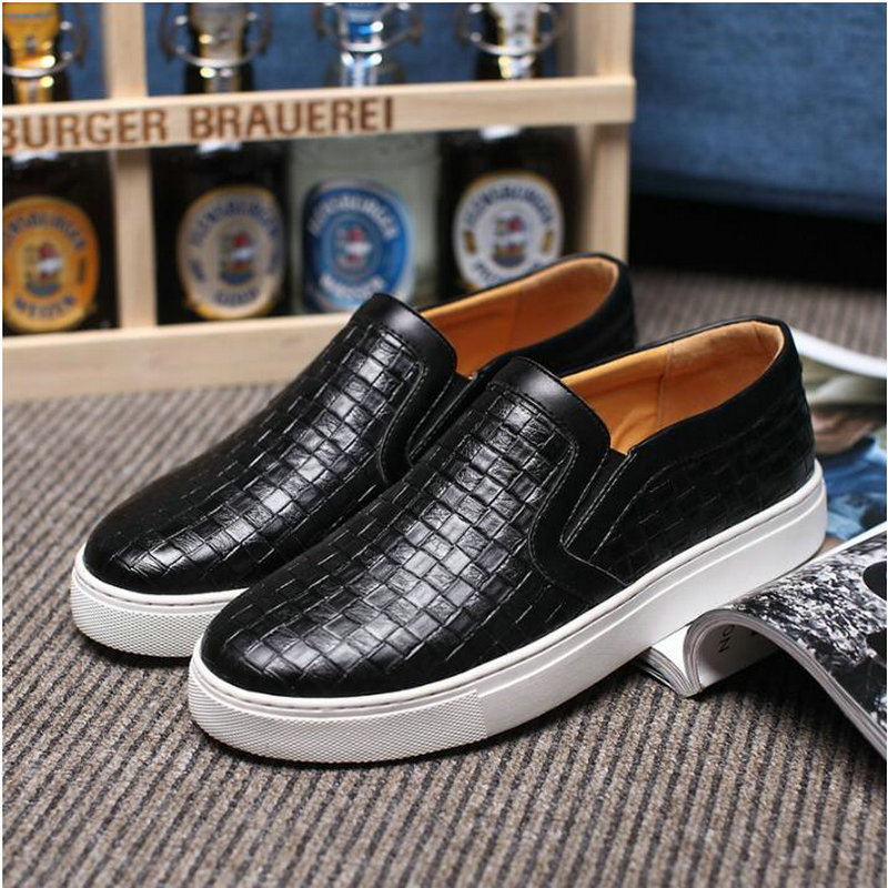 Sangat Fashion mens pu kulit sofa Sneakers pria Flat kulit sepatu - Sepatu Pria - Foto 5