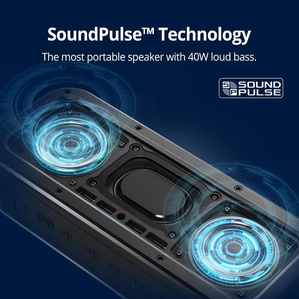 Tronsmart Force Bluetooth Speaker 40W Portable Speaker IPX7 Waterproof TWS Speakers 15H Playtime with Subwoofer,NFC