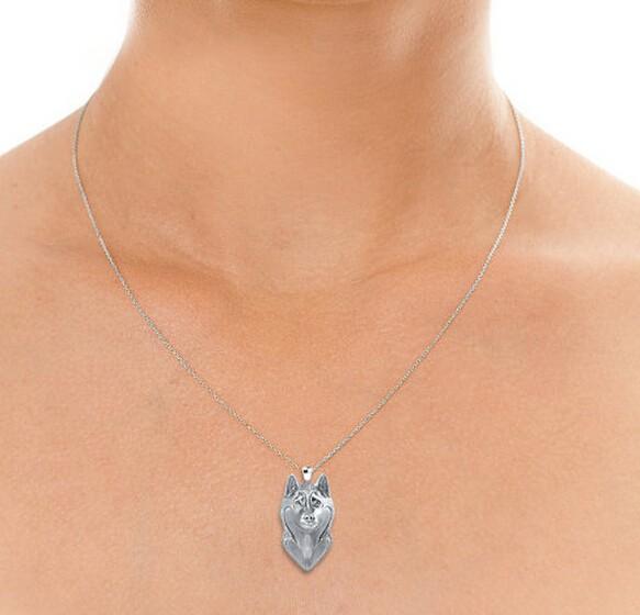 Ожерелье из Аляски маламут подвеска в виде мультяшной сибирской