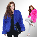 Fashion Women Colored Faux Fur Jacket Short Slim Black Pink Fur Coat Plush Coats manteau fourrure femme chalecos de pelo mujer