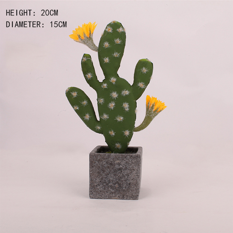 Image 5 - Artificial Plastic Cactus Succulents Prickly Pear Potted Plant no Pot Eco Friendly Simulation Home Office Desktop Decorations-in Artificial Plants from Home & Garden