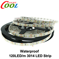 LED Strip 3014 120 LED/m IP65 Waterproof DC12V Flexible LED Light White / Warm White 3014 LED Strip 5m/lot.