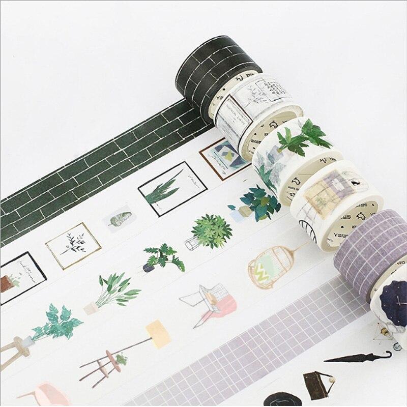 15-30mmX7m Nordic serie etikett dekorative washi band Tagebuch Sammelalbum papier bänder kawaii Mädchen diy Schule Büro schreibwaren