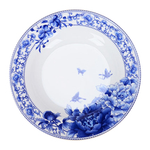 Jingdezhen Porcelain 6 inch 8 plate bone soup deep dish rice blue and white porcelain