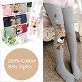 2017 Autumn Winter Kids Girls Tights Cartoon Deer Baby Girls Boys Tights Cotton Cute Children`s Stocking Baby Pantyhose F414