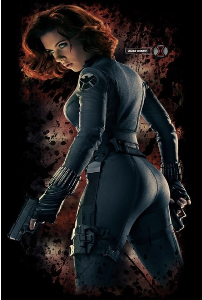 US $4 67 22% OFF|Custom Canvas Wall Decor Sexy Scarlett Johansson Poster  Black Widow Wall Stickers Avengers Wallpaper Marvel Mural Decals #1430#-in