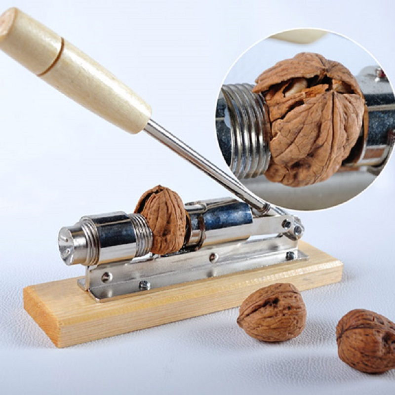 Heavy Duty Pecan Filbert Walnut Nut Lëkurë Hazelnut Cracker Nutcracker Clamp Plier Sheller Crack bajame Vegël Klipi Kuzhine