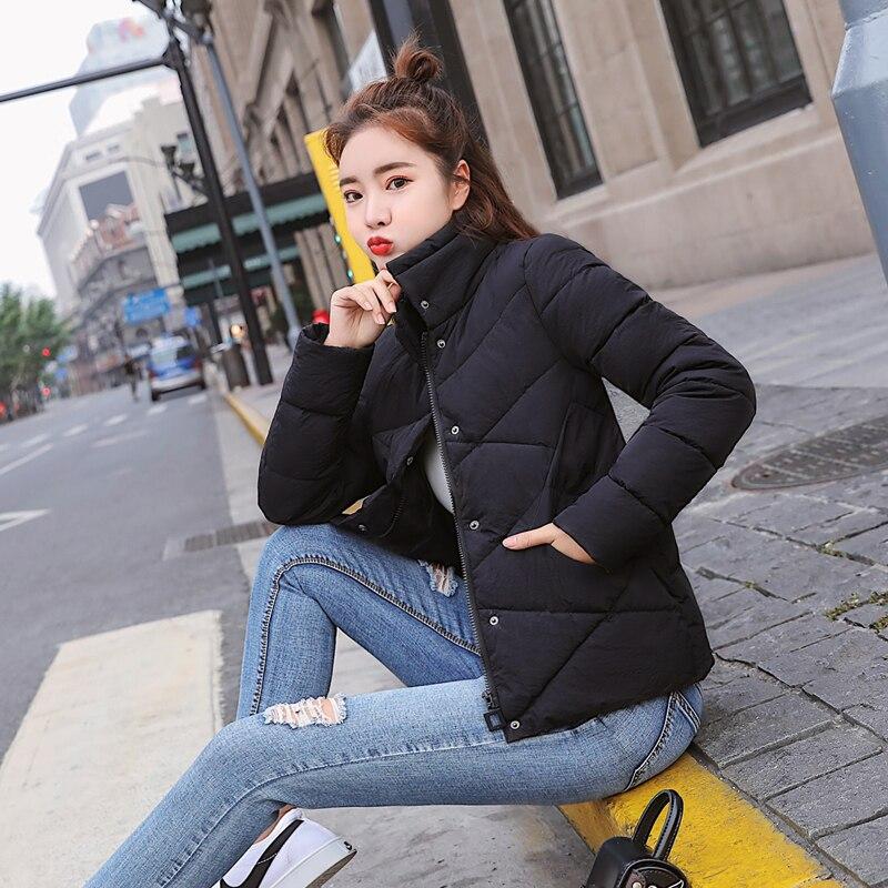Для женщин короткие воротник теплый тонкий зимний пуховик одежда из хлопка Большие размеры M-6XL Для женщин одежда жакет с капюшоном пальто к...