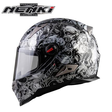 все цены на Newest Racing Motorcycle Full Face Helmet Moto Bike Casco Verspa Capacete Nenki 863-S