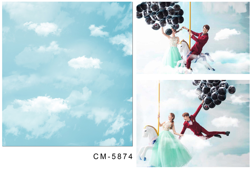 Soft color sky blue photography background white cloud vinyl backdrops for portrait photo studio photographic background CM-5874 send rolled sunny sky backdrop vintage white cloud blue sky printed fabric photography background f0150