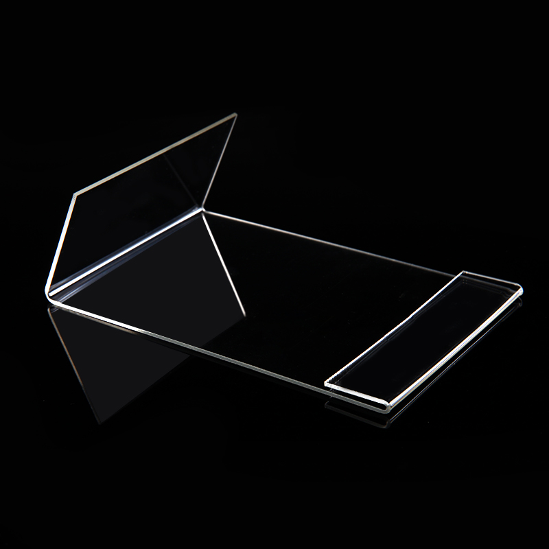 Image 2 - New 10pcs/lot High Quality Clear 6x9cm L Shape Acrylic Table Sign Price Tag Label Display Paper Promotion Card Holder StandCard Holder & Note Holder   -