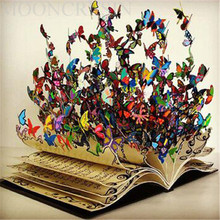Diy Diamond Painting Cross Stitch Colorful Butterflies & Notebooks Embroidery Full Round Mosaic Decoration Resin Sticker