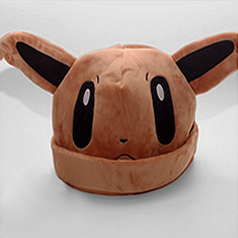 2016 New Arrival 9 Types Pokemon Hats Cosplay Apparel Accessories Kids Best Gifts Anime Cartton Plush Beanies Bonnet Cap 65AA513 sosw fashion anime theme death note cosplay notebook new school large writing journal 20 5cm 14 5cm